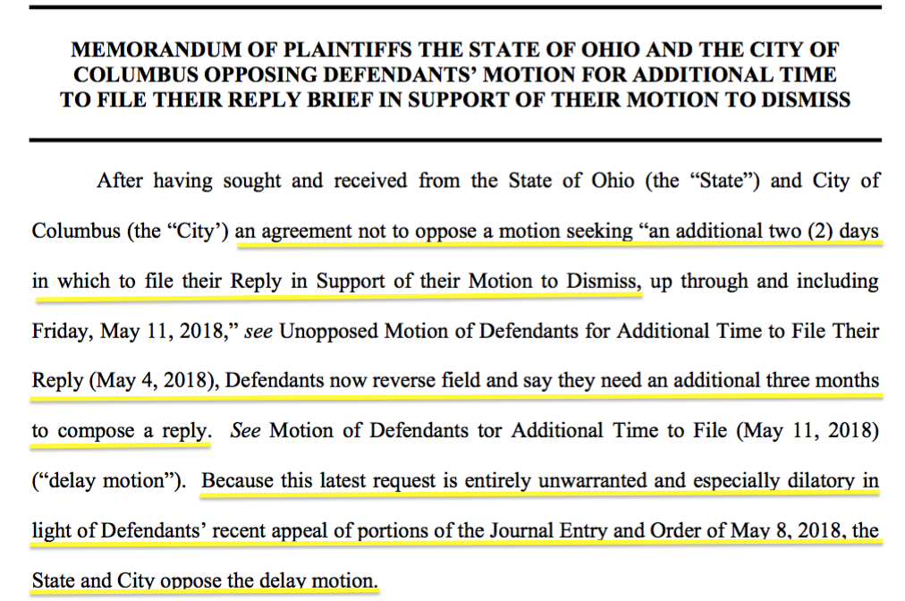 SaveTheCrew: Plaintiffs' Oppose PSV/MLS Motion to Delay Filing Reply